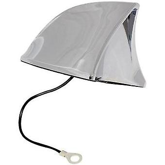 PVC Car shark fin antenna Chrome (W x H x D) 115 x 75 x 65 mm Eufab 521201