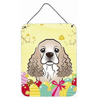 Cocker Spaniel Easter Egg Hunt Wall or Door Hanging Prints BB1898DS1216