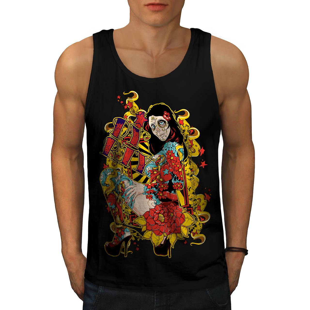 Dirty Party Girl Life Ink Naked Men Black Tank Top | Wellcoda