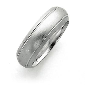 Sterling sølv 6mm Satin Finish Band Ring - ringstørrelse: 4-12