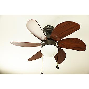 "Faro ceiling fan Palao Brown 76 cm / 30"" with lighting"