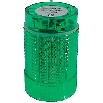 Signal tower component LED ComPro CO ST 40 Green Non-stop light signal, Flash, Emergency light 24 Vdc, 24 Vac 75 dB