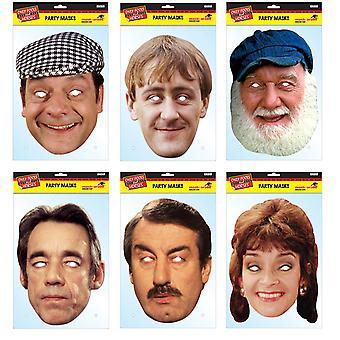 Kun Fools og heste officielle 2D kort Party Face masker sort 6 Pack