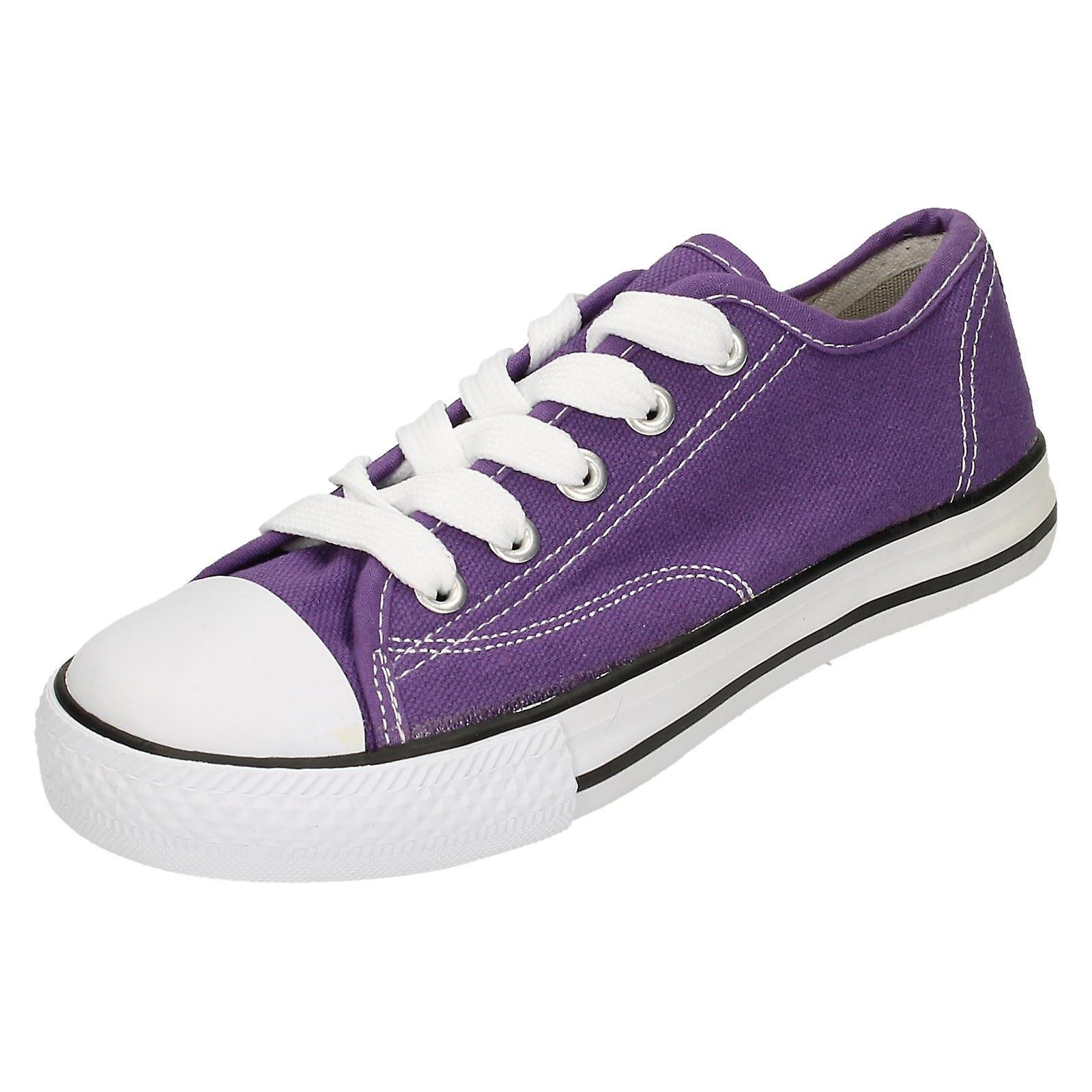 Womens Fleck auf Leinwand Lace Schuhe X0001