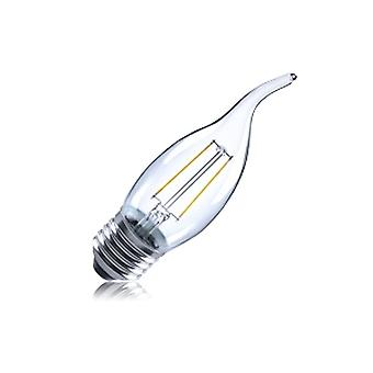 2R2/I1: Flame Tip Candle 2W 250Lm E27 Filament Non-Dimmable 330� Beam Angle 2700K. ILCANDE27N044