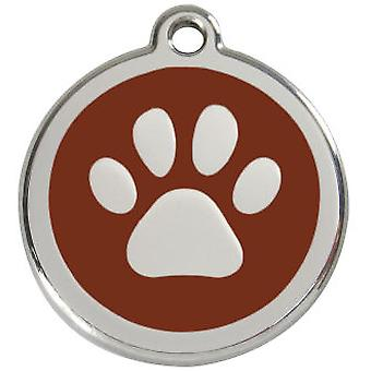Chadog Red Dingo Paw Medal 20mm (Dogs , Walking Accessories , Accessories)
