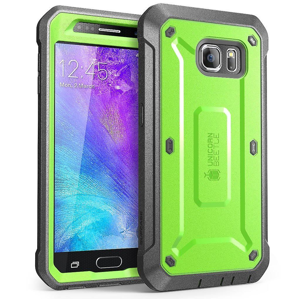 Galaxy S6 Case, SUPCASE with Built-in Screen Protector for Samsung Galaxy S6- Green/Gray