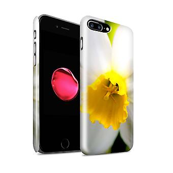 STUFF4 Glanz zurück Snap-On Handy Hardcase für Apple iPhone 7 Plus / weiße Blumen-Design / Floral Garden-Blumen-Collection