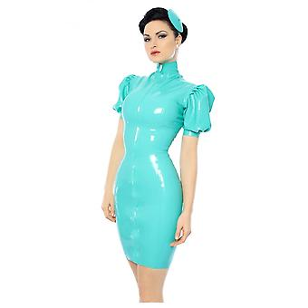Vestpå bundet Mansfield Kitti Latex gummi Latex gummi kjole.