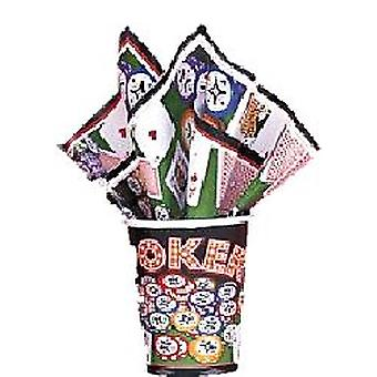 Poker 9 oz. Cups Hot/Cold - 8/pkg (8 cups)