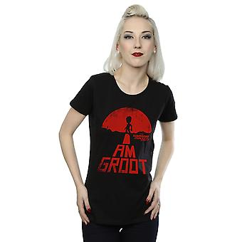 Marvel Women's Guardians Of The Galaxy I Am Groot Red T-Shirt