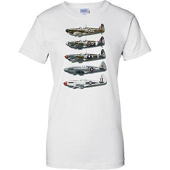 WW2 Spitfire Collage: Schlacht von Großbritannien Jagdflugzeug - Damen T Shirt