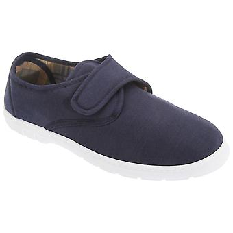 Scimitar Mens Touch Fastening Casual Textile Shoes