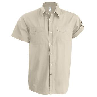 Kariban Mens Tropical Short Sleeved Casual Shirt