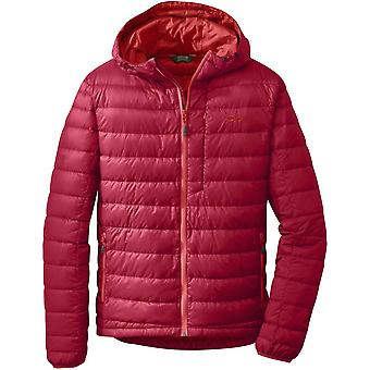 Outdoor Research Mens Transcendent Down Hoody Agate/Hotsauce (Small)