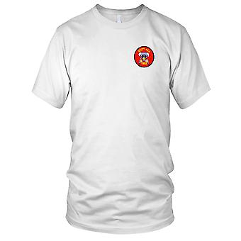 US Army - 4th Battalion 77th Artillery B Battery Aerial Rocket Artillery Embroidered Patch - Mens T Shirt