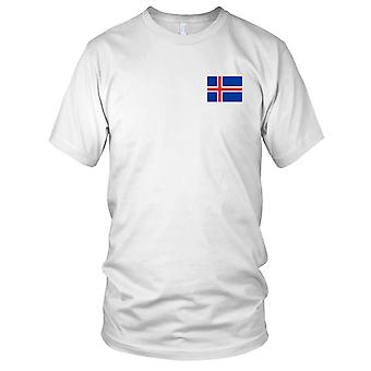 Iceland Icelandic Country National Flag - Embroidered Logo - 100% Cotton T-Shirt Mens T Shirt