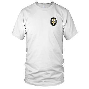 US Navy DDG-57 USS Mitscher Embroidered Patch - Mens T Shirt