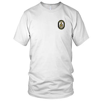 E.U. Marinha DDG-57 USS Mitscher bordada Patch - Mens T-Shirt