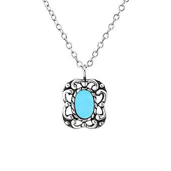 Oval - 925 Sterling Sølv Plain halskæder - W23374X