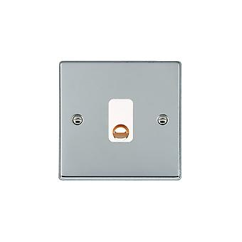 Hamilton Litestat Hartland Bright Chrome 20A Cable Outlet WH