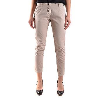 Water Negra MCBI118091O beige cotton ladies trousers