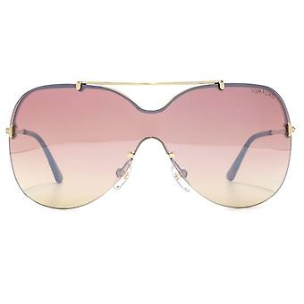 Tom Ford Ondria Sunglasses In Shiny Rose Gold Rose