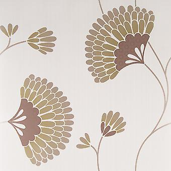 Graham & Brown Chocolate Brown Wallpaper Roll - Floral Charm Design - 50-050