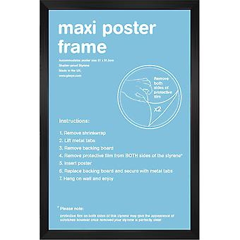61x91.5cm Flat Black Satin Maxi Frame