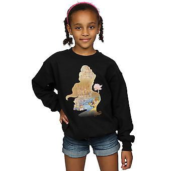 Disney Princess Girls Belle Filled Silhouette Sweatshirt