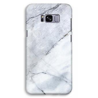 Samsung Galaxy S8 Plus Full Print Case (Glossy) - Marble white