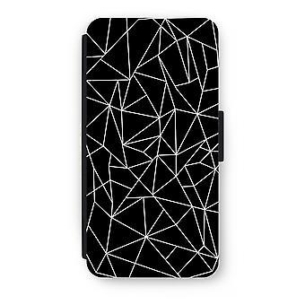 iPhone 8 Plus Flip Case - geometriska linjer vit