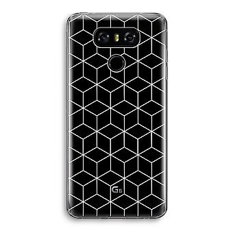 LG G6 Transparent Case - Cubes black and white