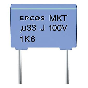 MKT thin film capacitor Radial lead 2.2 µF 63 Vdc 10 % 7.5 mm (L x W x H) 10 x 6 x 12 mm Epcos B32520-C225-K 1 pc(s)