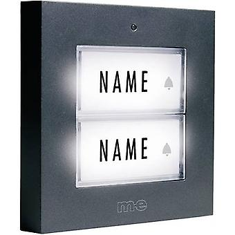 Bell panel backlit, with nameplate 2x m-e modern-electronics KTB