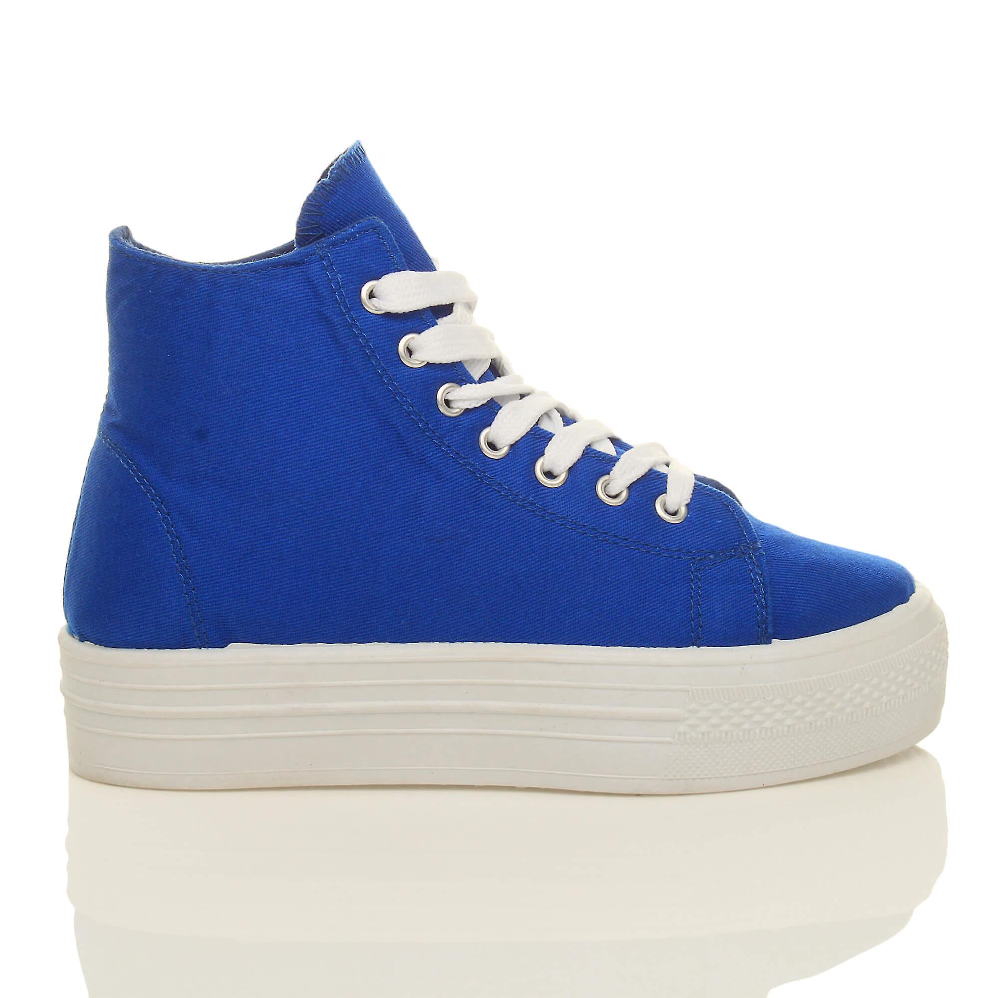 shoes high hi womens ankle platform Ajvani top flatform trainers boots qgzwPU