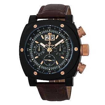 Burgmeister BM348-625 South Bend, Gents watch, Analogue display, Chronograph with Citizen Movement - Water resistant, Stylish leather strap, Classic men's watch