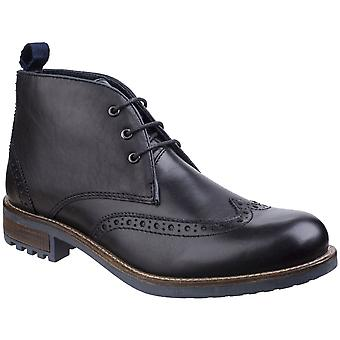 Cotswold Mens Avening Lightweight Brogue Leather Wing Tip Chukka Boots
