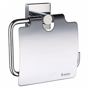 House Toilet Roll Holder with Cover - Polished Chrome RK3414