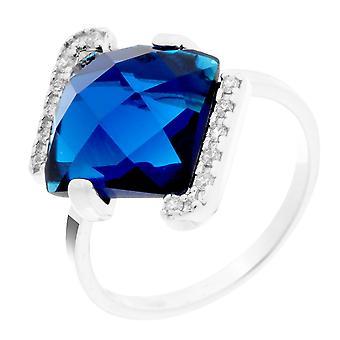 Orphelia Silver 925 Ring Square Blue  Zirconium   ZR-7208