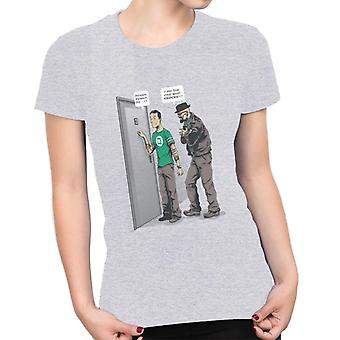 Big Bang Theory Breaking Bad Heisenberg Knocks Women's T-Shirt