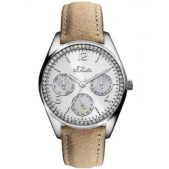 s.Oliver Damen Uhr Armbanduhr Leder SO-3163-LM