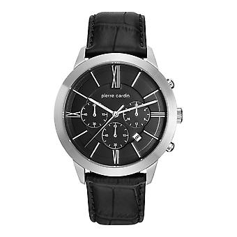Pierre Cardin mens watch watch Chrono Couture leather PC105891F10