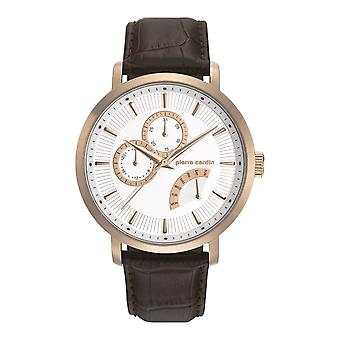 Pierre Cardin mens watch wristwatch POMPE HOMME leather PC107551F05