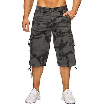Men's Camouflage 3/4 Cargo Chino Shorts Army Pants Camouflage Capri Bermudas