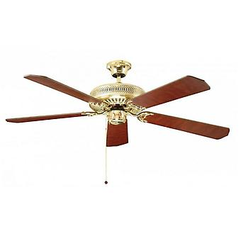 Ceiling Fan Classic Polished Brass 132cm / 52