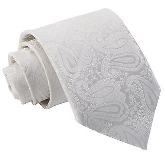 Ivory Paisley Classic Tie