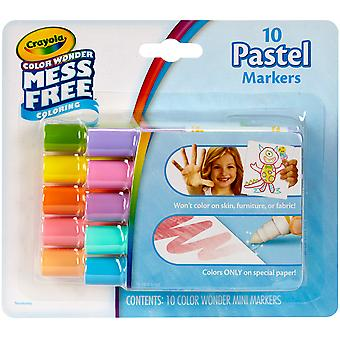 Crayola Color Wonder Mini Markers 10/Pkg-Pastels