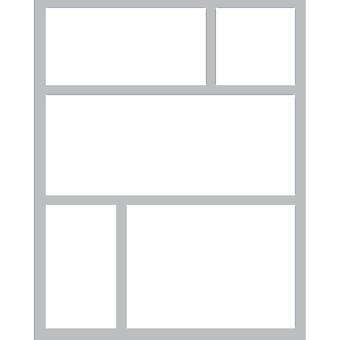 Queen & Co Foam Front Card Kit-Squares