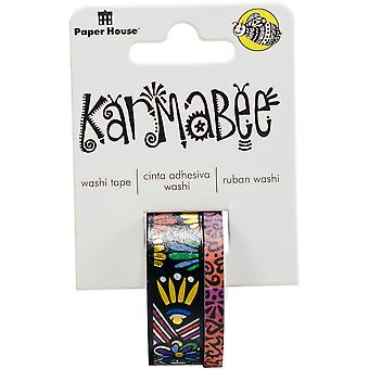 Paper House Washi Tape 2/Pkg-Tribal Pattern By Karmabee